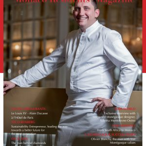 Chef Dominique Lory, Monaco Residents' Magazine - Spring 2021