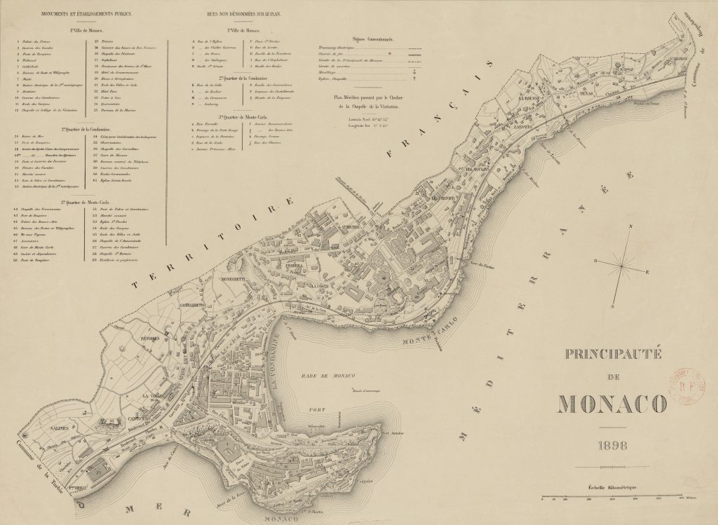 The map of Monaco in 1898